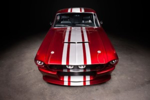 1967 Shelby GT500CR candy red with white stripes built by Classic Recreations