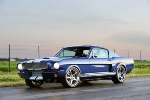 1965 Shelby GT350CR sitting still in the middle of the road