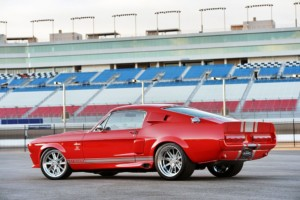 1967 Shelby GT500CR red with silver stripes built by Classic Recreations