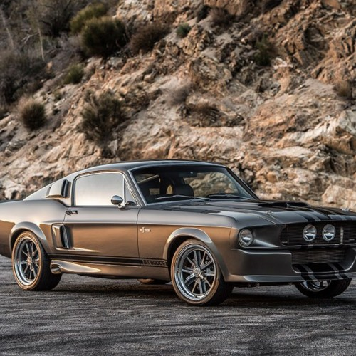 1967 Shelby GT500CR 545 grey with black stripes built by Classic Recreations