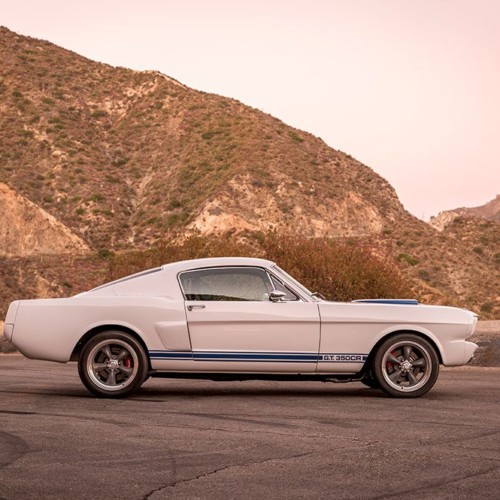 1965 Shelby GT350CR white with blue stripes built by Classic Recreations